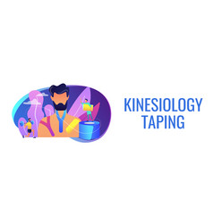 Kinesiology taping concept banner header vector