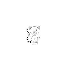 lemur cartoon icon vector image