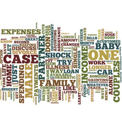 Life on one income text background word cloud vector