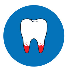 loose tooth icon vector image
