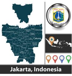 Map jakarta indonesia vector