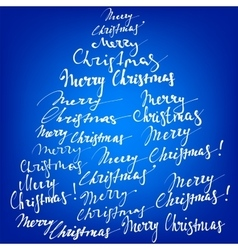 Merry Christmas collection hand lettering - vector image