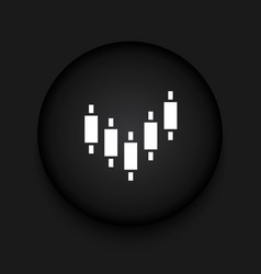 modern binary options black circle icon vector image