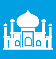 Mosque icon white vector