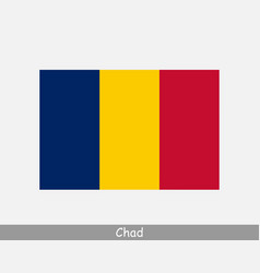 National flag chad chadian country flag vector