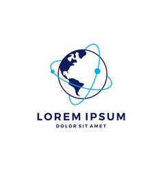 people human world earth global logo vector image