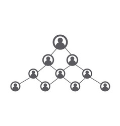 people network and social icon vector image