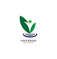 People vegan logo vector
