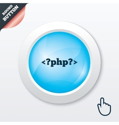 PHP sign icon Programming language symbol vector image