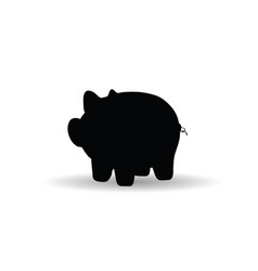 pig icon in black animal symbol silhouette vector image