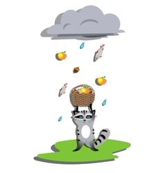 Rain for racoon vector