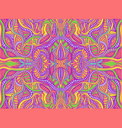 Rainbow summer psychedelic hippie style abstract vector