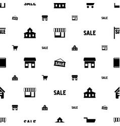 Retail icons pattern seamless white background vector