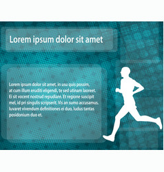 runner silhouette on the abstract background vector image