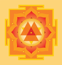 Sacred geometry durga yantra vector
