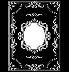 set collections beautiful frames vector image