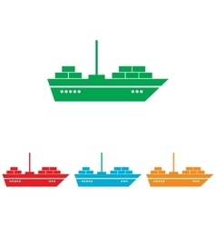 Ship sign Colorfull set vector image