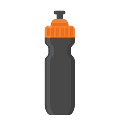 sports water bottle flat icon fitness and sport vector image