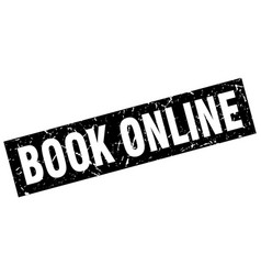 Square grunge black book online stamp vector