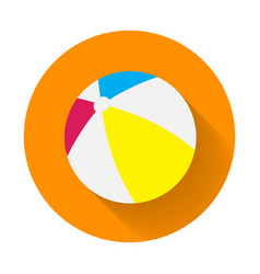 summer colored rubber inflatable beach ball beach vector image