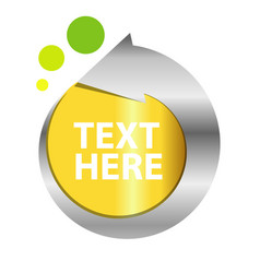 text label template design vector image