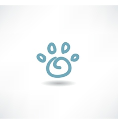 The print icon dog leg vector image