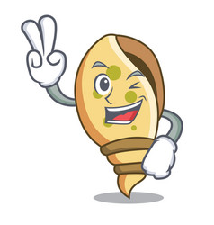 Two finger sea shell character cartoon vector