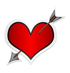 valentines day sticker vector image