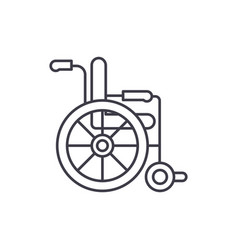wheelchair line icon concept wheelchair vector image