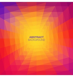 Abstract Colorful Geometric Tunnel Background vector image