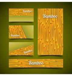 Bamboo card set vector image