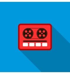 Boom box or radio cassette tape player icon vector image
