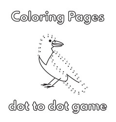 Cartoon crow coloring book vector