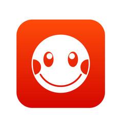 Embarrassed emoticon digital red vector