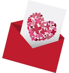 envelop with love letter vector image