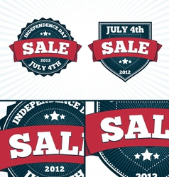 Independence Day July 4th Big Banners set vector image vector image