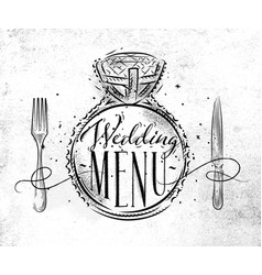 wedding menu vector image vector image