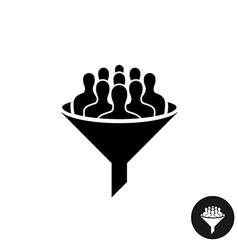 Crowdfunding icon Crowd of people silhouette with vector image