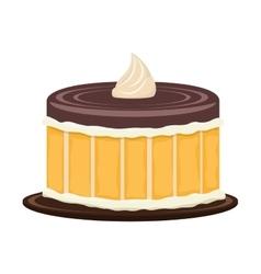 delicious sweet cake birthday vector image