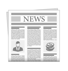 Folded newspaper news with articles vector image