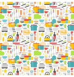 Seamless pattern with kitchen tools vector image vector image