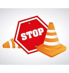 stop design vector image