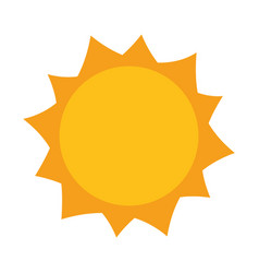 sun hot weather day sky natural vector image