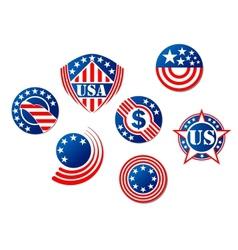 USA and american symbols vector image