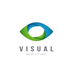 Eye Logo abstract colorful design template vector image vector image