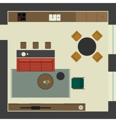 Living room in flat style vector image vector image