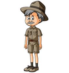 Zookeeper in brown uniform vector