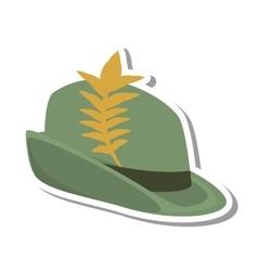 Irish hat isolated icon vector image vector image