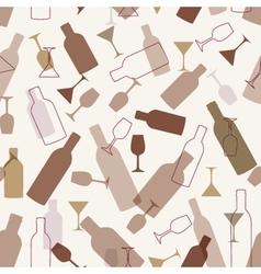 Restaurant or wine bar menu design Seamless vector image