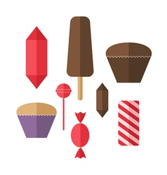 Sweet food Icon set Candy vector image vector image